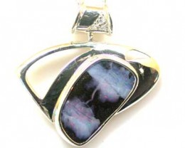 BEAUTIFUL NATURAL BOULDER OPAL  SILVER PENDANT L2528