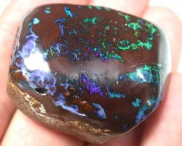 BOULDER YOWAH NUT ELECTRIC COLOUR THROUGH STONE 151CT GR1343
