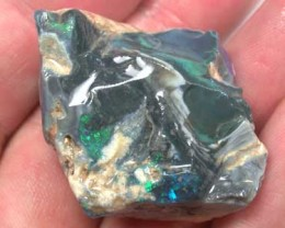 FOR CARVING  BLACK OPAL ROUGH FLASH 93CT L2618
