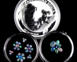 2011 TREASURES OPAL & KOALASILVER COIN SERIES 12 -100