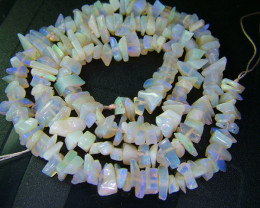 WHITE OPAL BEADS -CHIPS 68.15 CTS  AS-A653