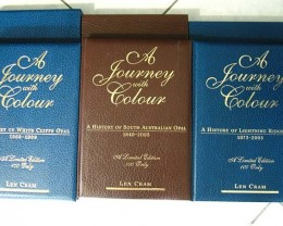 COLLECTORS LEATHER BOUND  OPAL BOOK SERIES OF LEN CRAM -