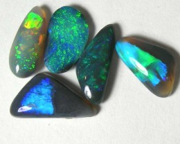 SOLID BLACK OPAL L.RIDGE (5 PCS) 4.35 CTS AS-A874