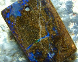 POLISHED BOULDER OPAL - DRILLED- FOR PENDANT USE 50.25 CTS A5691