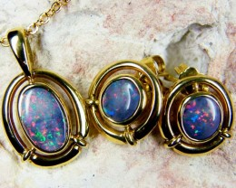 Gold Opal Jewelry Sets