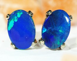 DOUBLET OPAL 18K GOLD EARRINGS CJ1686