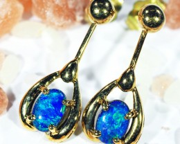 DOUBLET OPAL 18K GOLD EARRINGS CJ1687