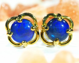 DOUBLET OPAL 18K GOLD EARRINGS CJ1688