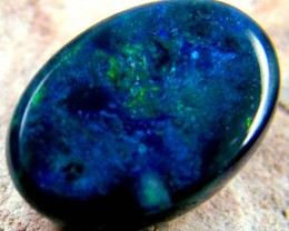 GREEN TINGE RED FIRE BLACK OPAL 1.95 CTS SS 1982