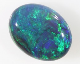 BEAUTIFUL BLUE FLASH BLACK OPAL 1.70 CTS SS 2000