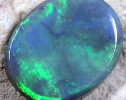 GREEN AND BLUE FLASH FUSION BLACK OPAL 1.75 CT GREEN SS 1578