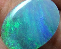 GREEN FLASH BLACK OPAL LARGE 17 X 13 MM 3.95 CTS A102