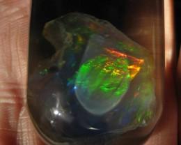 Incredibly Rare Phantom Opal! Extreme 5/5 Tiger Stripe Fire!