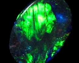 NATURAL LIGHTNING RIDGE -BLACK OPAL 0.25 CTS A1195