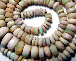 FACETED WHITE OPAL BEADS 58.05 CTS  AS-A2003