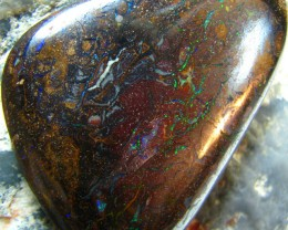 HIGH POLISHED BOULDER MATRIX OPAL 43.40 CTS NICE FIERY A6030