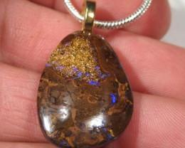 OpalWeb - .925 Silver Chain & Opal Pendant -  30.65Cts