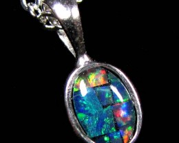 MOSAIC TRIPLET SILVER PENDANT 0.60 CTS MYG 1275