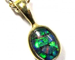 MOSAIC TRIPLET SILVER PENDANT 0.60 CTS MYG 1278