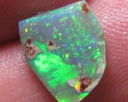FIREY BLACK OPAL RUB FACED TO SHOW THE FIRE 1.80 CTS