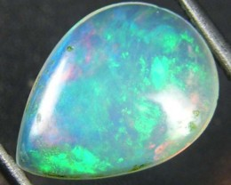 GREEN ROLLING FIRE ETHIOPIAN OPAL  0.75 CTS  FOB  108