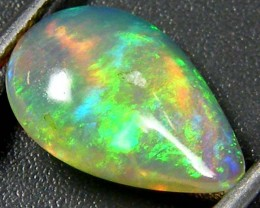 BEAUTIFUL GREEN FIRE ETHIOPIAN OPAL 1.20 CTS  FOB  109