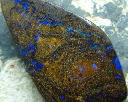 POLISHED BOULDER OPAL - DRILLED- FOR PENDANT USE 50.90 CTS A6666