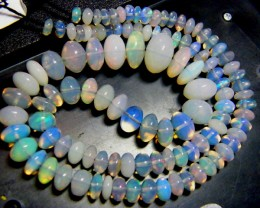 84 CTS FIERY ETHIOPIAN-WELO OPAL BEADS DRILLED (FOB)
