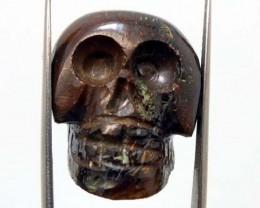 51.70 CTS BOULDER OPAL CARVING - SKULL  ADO-1889