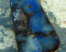NIEC BLUES BOULDER OPAL HIGH POLISH STONE  17.40 CT A6888