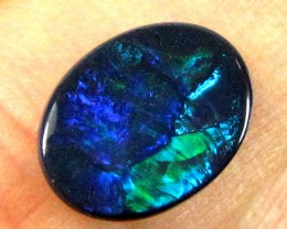 OP STUNNING RICH BLUE FIRE BLACK OPAL 1.40 CTS N420[OA]
