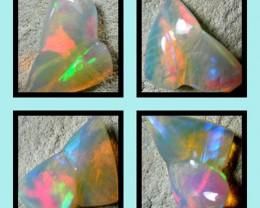 *Artistic* Finish cut stone Gondar Ethiopean opal  4.04 cts