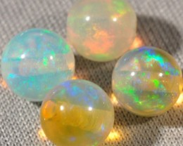 WELO GEM OPALS~LOOSE ROUND BEADS~X4~3.75CTW