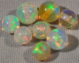 WELO GEM OPALS~LOOSE ROUND BEADS~X8~5.18CTW