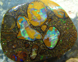 TOP CONGLOMERATE NATURAL BEAUTIFUL BOULDER OPAL 29.30 CTS A7181