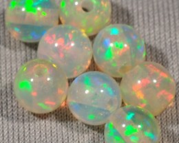 WELO GEM OPALS~LOOSE ROUND BEADS~X8~4.2CTW