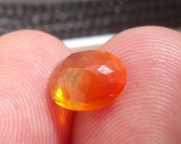FreeForm Faceted Fire Mexican Opal 1.00 Cts.
