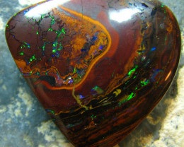 VIDEO ELECTRIC NATURAL BEAUTIFUL BOULDER KOROIT OPAL 32.7CTS A7261