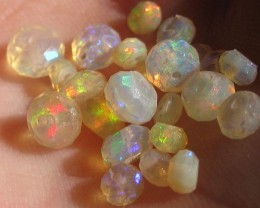 Faceted Beads WELO 5.05cts Red Blue & Green Fire! C807