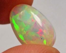 F/S Ethiopian Opal Egg Shape Fire 3.00 Carats  code QOM 683