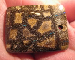 NEW STOCK-DRILLED-PATTERN- BOULDER OPAL,51.50.CTS.FROM CO