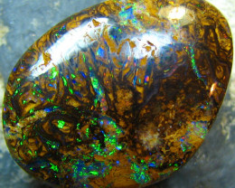 DOUBLE SIDED ELECTRIC FIRE ON BOTH SIDED BOULDER OPAL 11 CTS A7557
