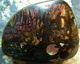 VERY BRIGHT FIREY RED ELECTRIC BOULDER OPAL 36.90 CTS A7632