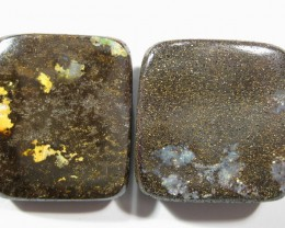 2 Drilled Opals - ** Cheapest Opals on the Internet.