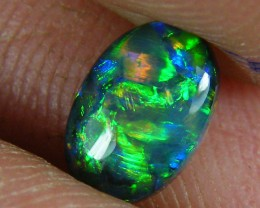 LOVELY LIGHTNING RIDGE BLACK OPAL.80 CTS   (x6)
