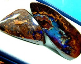BOULDER OPAL CUT  STONES 75 AND 40  CTS  TBO-5650