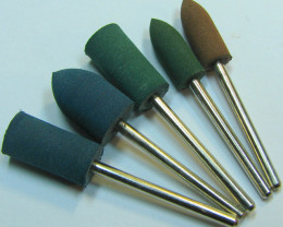 5 PIECE ELASTIC RUBBER BURRS MADE FOR CONCAVE CONVEX WORK