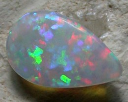 NATURAL SOLID FIREY BLACK OPAL  0.73ct