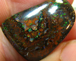 FIREY MATRIX BOULDER OPAL VEINS OF COLORS ELECTRIC 19.40 CTS A7853