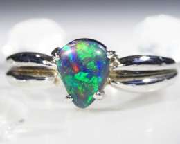 FREFORM BLACK  OPAL 18K  GOLD 7 RING SIZE  CJ 1206